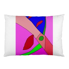 Pink Abstraction Pillow Case (two Sides) by Valentinaart