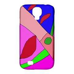 Pink Abstraction Samsung Galaxy S4 Classic Hardshell Case (pc+silicone) by Valentinaart
