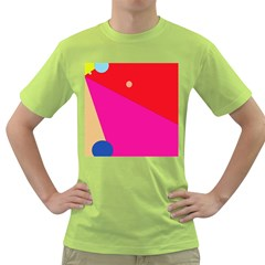 Colorful Abstraction Green T Shirt by Valentinaart
