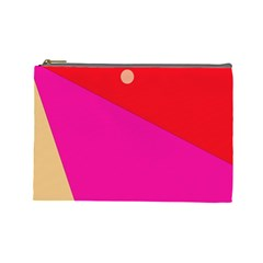 Colorful Abstraction Cosmetic Bag (large)  by Valentinaart