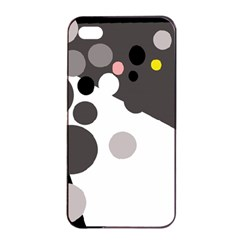 Gray, Yellow And Pink Dots Apple Iphone 4/4s Seamless Case (black) by Valentinaart
