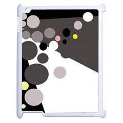 Gray, Yellow And Pink Dots Apple Ipad 2 Case (white) by Valentinaart