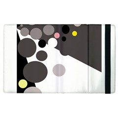 Gray, Yellow And Pink Dots Apple Ipad 3/4 Flip Case by Valentinaart