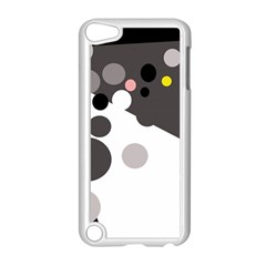 Gray, Yellow And Pink Dots Apple Ipod Touch 5 Case (white) by Valentinaart