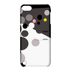 Gray, Yellow And Pink Dots Apple Ipod Touch 5 Hardshell Case With Stand by Valentinaart