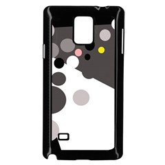 Gray, Yellow And Pink Dots Samsung Galaxy Note 4 Case (black) by Valentinaart