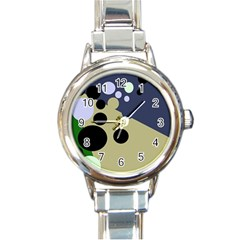 Elegant Dots Round Italian Charm Watch by Valentinaart