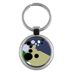 Elegant Dots Key Chains (round)  by Valentinaart