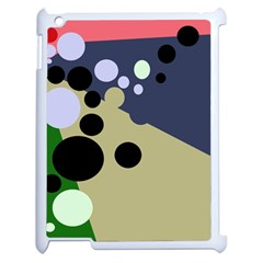 Elegant Dots Apple Ipad 2 Case (white) by Valentinaart