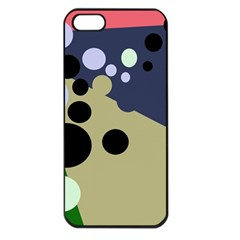 Elegant Dots Apple Iphone 5 Seamless Case (black) by Valentinaart
