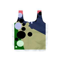 Elegant Dots Full Print Recycle Bags (s)  by Valentinaart