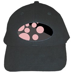 Pink Dots Black Cap by Valentinaart