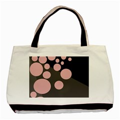 Pink Dots Basic Tote Bag by Valentinaart