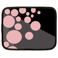 Pink Dots Netbook Case (xxl)  by Valentinaart