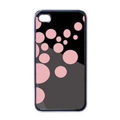 Pink Dots Apple Iphone 4 Case (black) by Valentinaart