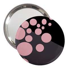 Pink Dots 3  Handbag Mirrors by Valentinaart