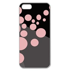 Pink Dots Apple Seamless Iphone 5 Case (clear) by Valentinaart
