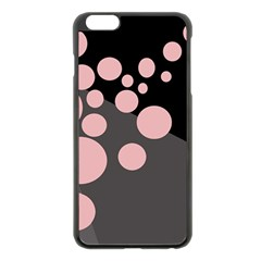 Pink Dots Apple Iphone 6 Plus/6s Plus Black Enamel Case by Valentinaart