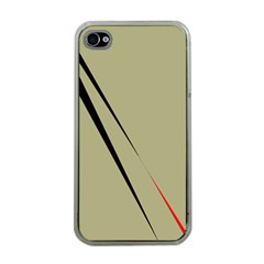 Elegant Lines Apple Iphone 4 Case (clear) by Valentinaart