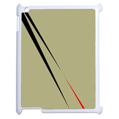 Elegant Lines Apple Ipad 2 Case (white) by Valentinaart