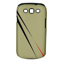 Elegant Lines Samsung Galaxy S Iii Classic Hardshell Case (pc+silicone) by Valentinaart