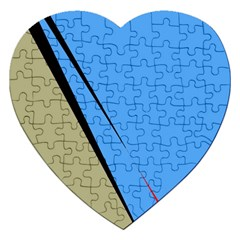 Elegant Lines Jigsaw Puzzle (heart) by Valentinaart