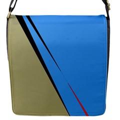 Elegant Lines Flap Messenger Bag (s) by Valentinaart