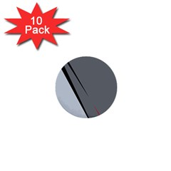 Elegant Gray 1  Mini Buttons (10 Pack)  by Valentinaart