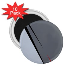 Elegant Gray 2 25  Magnets (10 Pack)