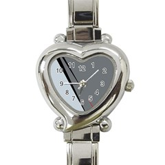 Elegant Gray Heart Italian Charm Watch by Valentinaart