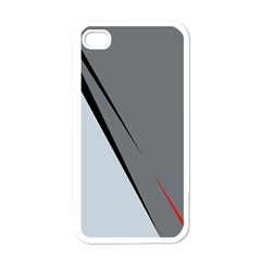 Elegant Gray Apple Iphone 4 Case (white) by Valentinaart