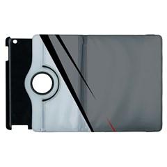 Elegant Gray Apple Ipad 2 Flip 360 Case by Valentinaart