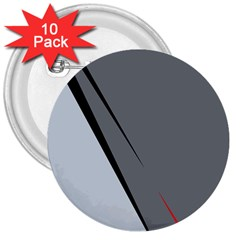 Elegant Gray 3  Buttons (10 Pack)  by Valentinaart