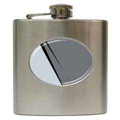 Elegant Gray Hip Flask (6 Oz) by Valentinaart
