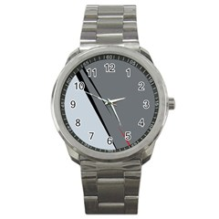 Elegant Gray Sport Metal Watch by Valentinaart