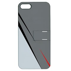 Elegant Gray Apple Iphone 5 Hardshell Case With Stand by Valentinaart