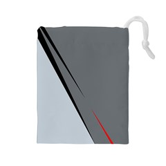 Elegant Gray Drawstring Pouches (large)