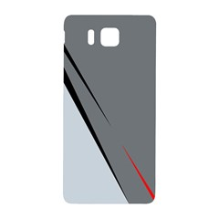 Elegant Gray Samsung Galaxy Alpha Hardshell Back Case by Valentinaart