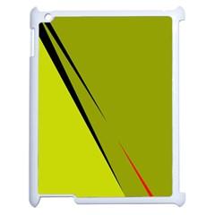 Yellow Elegant Design Apple Ipad 2 Case (white) by Valentinaart
