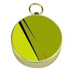Yellow Elegant Design Gold Compasses by Valentinaart