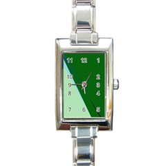 Green Design Rectangle Italian Charm Watch by Valentinaart