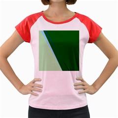 Green design Women s Cap Sleeve T-Shirt by Valentinaart
