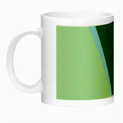 Green Design Night Luminous Mugs by Valentinaart