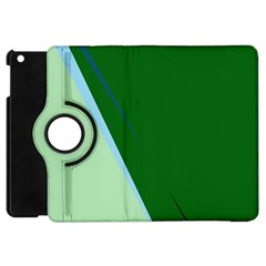 Green Design Apple Ipad Mini Flip 360 Case by Valentinaart