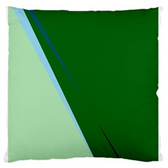 Green Design Large Flano Cushion Case (one Side) by Valentinaart