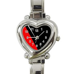 Black And Red Design Heart Italian Charm Watch by Valentinaart