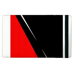 Black And Red Design Apple Ipad 3/4 Flip Case by Valentinaart