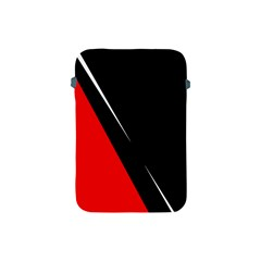 Black And Red Design Apple Ipad Mini Protective Soft Cases by Valentinaart