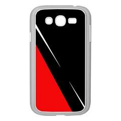 Black and red design Samsung Galaxy Grand DUOS I9082 Case (White) by Valentinaart