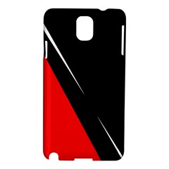 Black And Red Design Samsung Galaxy Note 3 N9005 Hardshell Case by Valentinaart